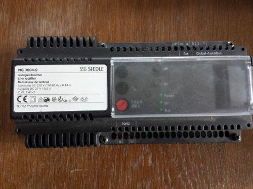 Siedle NG 3004-0 Netzgleichrichter für Sprechanlage Bus System Netzgerät Netztrafo geb.