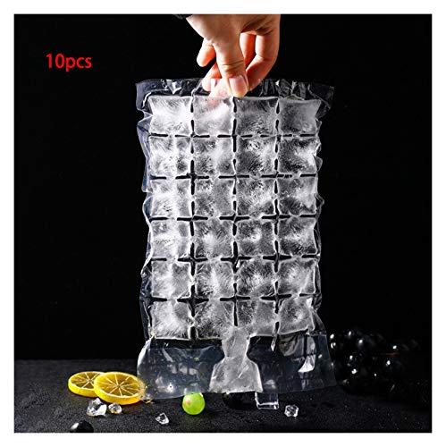 Bolsa refrigerada 10-30 unids Molde de cubito de hielo 24 Gridos Selal Sellado Cubo de hielo Bandeja de plástico Cubo de hielo Bolso para inyección Cóctel DIY Fabricante de hielo ( Color : 10pcs )