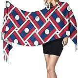 XCNGG Imitation Kaschmir Fransen Schal Schal Long Fashion Schal Cashmere Feel Shawl Wraps Laos Flag Weave Fashion Large Scarf For Women Winter Warm Soft Scarves Blanket