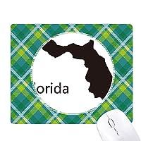 米国フロリダアメリカ 地図のシルエット 緑の格子のピクセルゴムのマウスパッド