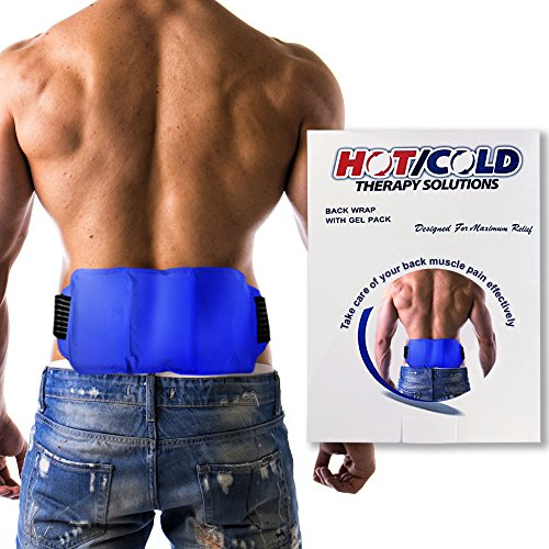 Best Hot and Cold Back Wrap - Reusable Cold Ice Pack with Adjustable Strap. Decrease Swelling and Relieve Soreness. Gel Pack for Heat and Cold Compress Therapy. Back, Waist, Hip, and Other Body Parts