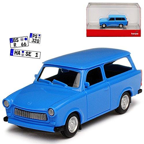 Herpa Trabant 601 S Kombi Universal Blau 1964-1990 H0 1/87 Modell Auto
