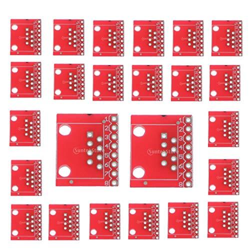 prasku Paquete de 24 Módulos de PCB 8P8C de Placa de Conexión de Conector Ethernet