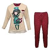 Santoro Gorjuss - Pijama de Invierno (2 Unidades, Original y auténtico, Ideal para niña/Mujer, en Caja de Regalo Reutilizable) Beige Size: 4 Anni