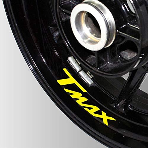 Moto Reflectante Rueda Neumático Etiquetas engomadas creativas RIM In Tecalas decorativas decorativas para Yamaha Tmax 530 500 (Color : 5)