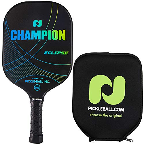 Champion Eclipse Graphite Pickleball Paddle - Blue/Green | Polymer Honeycomb Core, Graphite Hybrid Composite Face | Lightweight | Paddle Cover Included