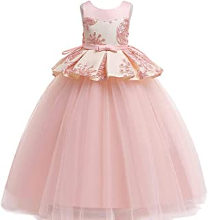 Best Gift Kids Toddler Flower Girls Lace Dress Pageant Wedding Bridal Children Bridesmaid Princess 4-14 years