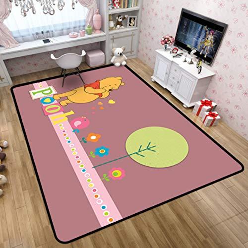 Mianbao Alfombra Sala De Estar Dormitorio De Los Niños Dibujos Animados 3D Winnie The Pooh Imprimir Piso Inicio Alfombra De Juego para Bebés Alfombra Colorida para Puertas Al Aire Libre Lindo
