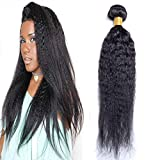 Brazilian Yaki Kinky Straight One Bundle 100% Unprocessed Human Virgin Hair Weave Extensions Natural Color 14 inch