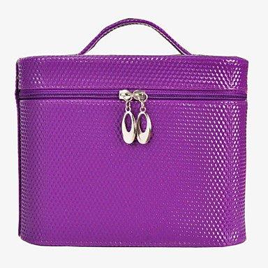 RY@ Femme Polyuréthane Utilisation Professionnelle Trousse de Maquillage Blanc / Rose / Violet / Rouge / Noir / Bourgogne , pink