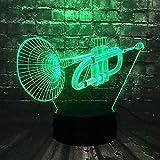 Luz nocturna visión estéreo 3D lámpara de cabecera instrumento musical...