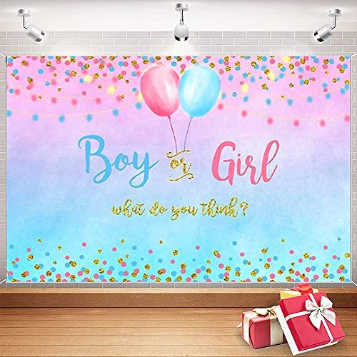 Rosa e Blu Genere Rivela Decorazioni, Gender Reveal Party Sfondo, Banner a Sorpresa di Genere, Sfondo di Fotografia Baby Shower, 150 x 210cm