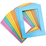 Magnetic Picture Frames for Refrigerator, Holds 4x6 Photos (5 Colors, 15 Pack)