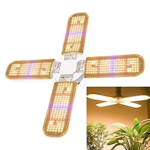 MZSG 4 Lámpara de Plantas de Ventilador de Agua LED Cultivar Luz Full Spectrum Phytolamp Cultivar Bombilla para Flores Plántulas Fitolamp Indoor Growbox