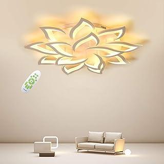 Creativa LED Lámpara de Techo, Moderna Pétalo LED Luz de Techo, 84W 8400lm, Regulable 3000K - 6000K, Panel de Acrílico Luces de Techo de la Sala de Estar, Dormitorio Φ100 [Clase energética A ++]