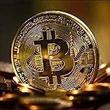 Bitcoin Copper Round Bitcoin Coin Pure Limited Copper Bitcoin Collectors Coin (Gold)