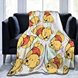 WOMFUI Flannel Throws Cartoon Soft Throw Blanket Warm for Men Women Camping 50 X 40 in