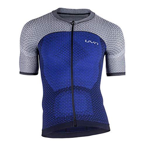 UYN Man Biking Alpha Ow Shirt SH_SL Maillot de Cyclisme pour Homme M Bleu/Gris