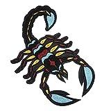 Parche Termoadhesivo para Ropa Escorpión - 17.5 x 11 cm -Parche Motero Bordado Espalda Grande Animal Rock Decorativo Hombre Chaqueta Mochila Crossfit Aplique para Coser Aplicaciones Costura