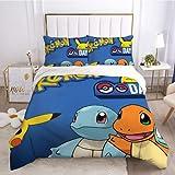 Diseño de la moda de la funda de almohada y de la hoja de juegos de cama Pokémon ser aplicable ser aplicable niños niñas adolescentes