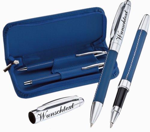 Hochwertiges 2-tlg. Schreibset Kugelschreiber, Lance Rollerball mit Gravur nach Wunsch.