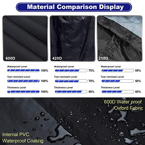 Sotor bbq cover, 600D barbecue cover 60 inch waterproof-2 3 4 burner BBQ Grill Cover Double Layers Oxford Fabric with…