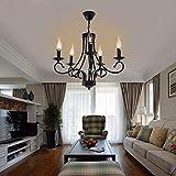 Iglobalbuy 5 lights Chandelier élégant Lustre Rétro Lustre E14 pour Eclairage Décoré Maison Salle à Manger