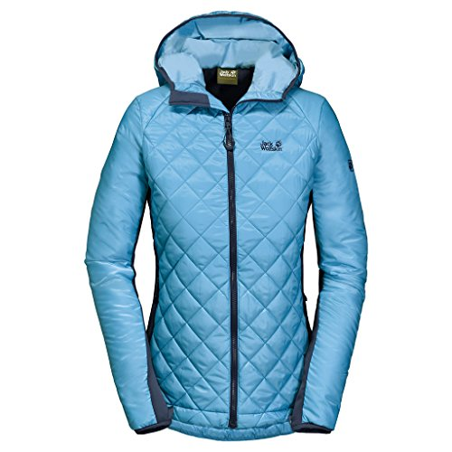 Jack Wolfskin Damen ICY Tundra Jacket, Damen, Light Sky, Large