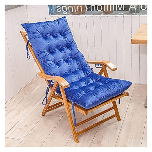 ZCXBHD Cojín para Silla De Salón O Tumbona Reclinable Cojín con Diseño De Colchón para Tumbonas En El Patio Jardín Exteriores Galería(No Incluye Sillas) (Color : Blue, Size : 155 * 48cm)