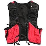 HYMD Chaleco Running Hidratación Running Backpack Vest Trail Run Pack Lightweight Marathon Racing Sport Bag 8L Red (Size : M)