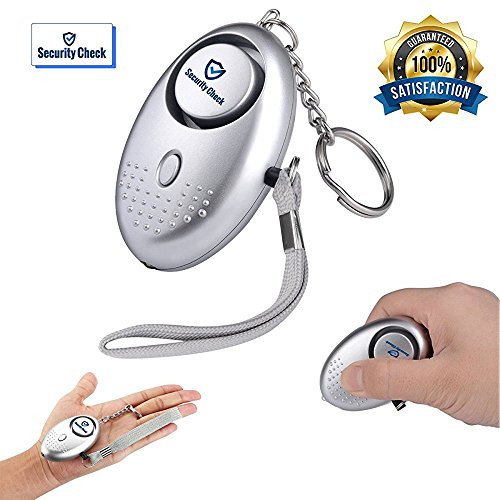 SECURITY CHECK Personal 140DB Alarm Keychain Premium Quality Emergency Device with LED light & Batteries included Guaranteed for Safety & Self Defense Protection for Women, Men, Girls, Kids, Students