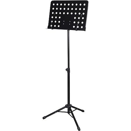 CASCHA Pupitre d'orchestre en métal, pupitre à musique, pupitre pour partitions, pliable, réglable en hauteur, noir HH 2068