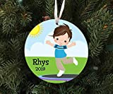DKISEE Personalized Boy On Trampoline Ornament Keepsake - Custom Made to Order - 2019 Unique Novelty...