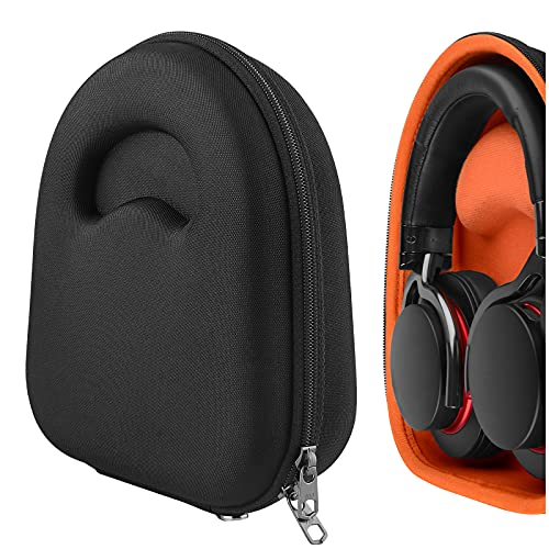 Geekria UltraShell Case Compatible with Sony MDR-1RNC, MDR-XB950BT, MDR-XB950N1, WH-CH710N, WH-CH700N Headphones, Replacement Protective Hard Shell Travel Carrying Bag with Cable Storage (Black)
