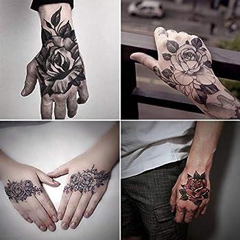 30 Sheets Temporary Tattoos for Men Women Hand Arm Wrist Flower Tattoo Fashion Punk Waterproof Tattoo Stickers