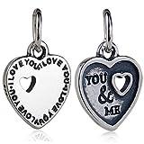 ABAOLA You&ME Charm 925 Sterling Silver I Love You Beads fit for Fashion 3mm Pandora Charms Bracelets (You&ME)