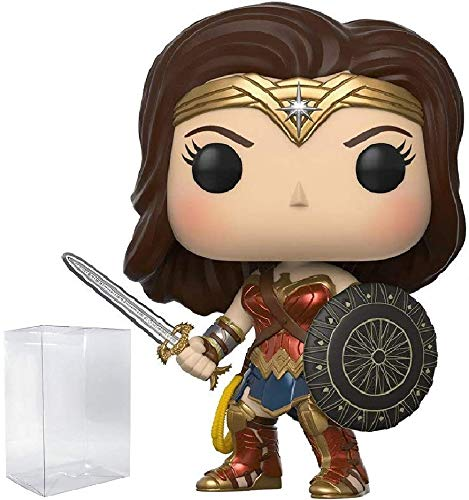 Funko Pop! DC Wonder Woman Movie - Sword & Shield Wonder Woman Vinyl Figure (Bundled with Pop BOX PROTECTOR CASE)