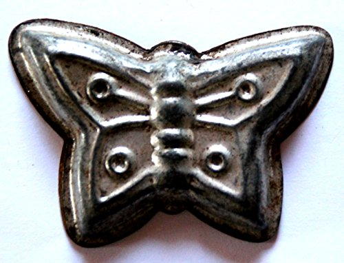 Antiquitäten - antike Backform, Verzierung, Schokoladenform - Schmetterling 7 x 5 cm (260)