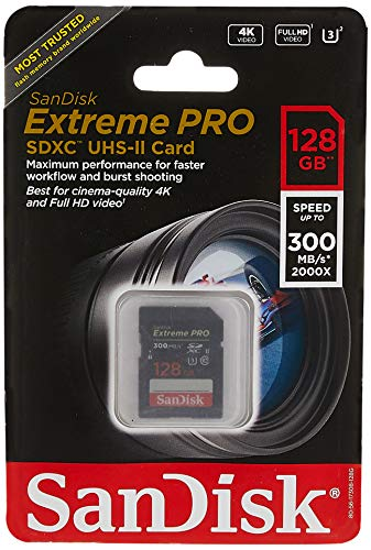SanDisk 128GB Extreme Pro uhs-ii SDXC Speicherkarte