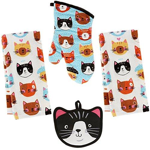 2 Terry Towels, (Crazy Cat)
