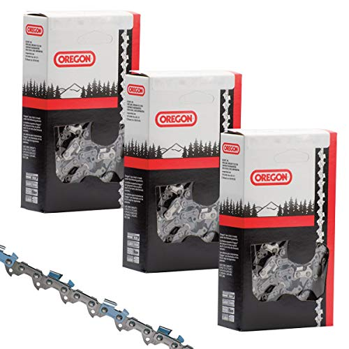 Chainsaw Replacement Chain 14' (3 Pack) 52 Drive Link 3/8' Low Profile .050' Gauge -...