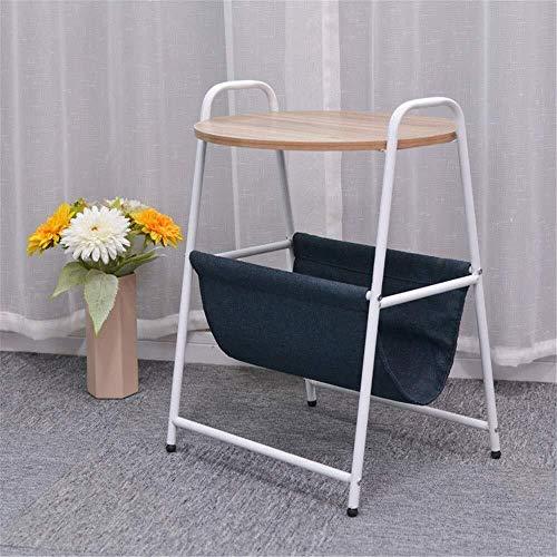 WSHFHDLC Mesa de Centro Café Café Redondeado Capa del Lado de 2-45 * 45 * 67 cm, con una Cesta de Almacenamiento mesas de Noche Living Tablas de café pequeñas (Color : Orange, Size : 45 * 45 * 67cm)