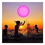 YWLI Strandbälle + aufblasbare Farbwechsel LED Nachtlicht Party Decor für Garten,Schwimmbad,Hochzeit,Strand,Hof,Rasen (16', Weiß)