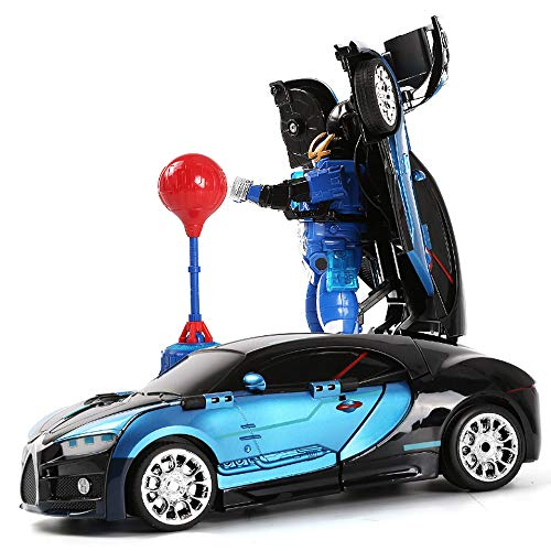 DEORBOB Novedoso diseño 360 ° Speed ​​Drifting ABS Stunt Car Juguetes para niños Transform Robot RC Car Toys Recargable Wall Stunt Racing Niños Juegos de interior Niños Niñas Regalos para cumpleaños N
