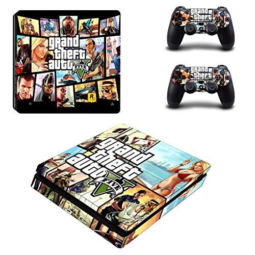 XIANYING Grand Theft Auto V GTA 5 Ps4 Slim Peau Autocollant Vinyle pour Playstation 4 Console et contrôleur Ps4 Slim Skins Autocollant Vinyle