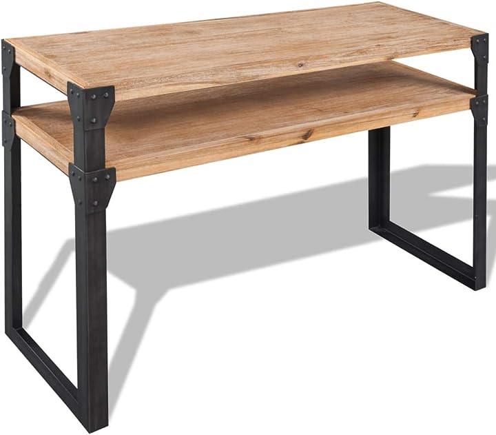 Tavolino da salotto vidaxl legno massello acacia tavolo consolle 120x40x85 cm SAFERS-HÜLLE-2966