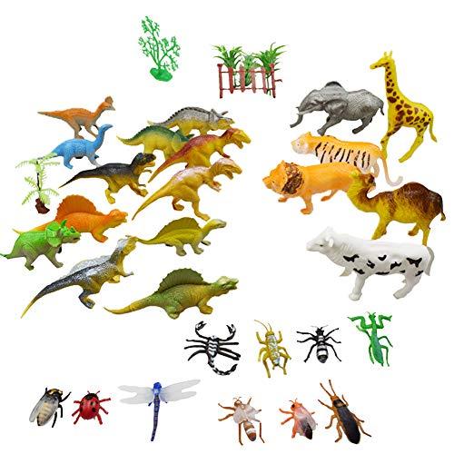 Figuras De Animales Set De 31 Animales De Juguete De Aspecto Realista, Animales Salvajes Juguete De La Jungla Educativos Bolsas De Fiesta Premios Detalles De Fiesta Rellenos para Navidad Y Mucho Más