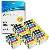25 Cartouches d'encre compatibles pour Epson Stylus Photo R240, R245, RX400, RX420,...
