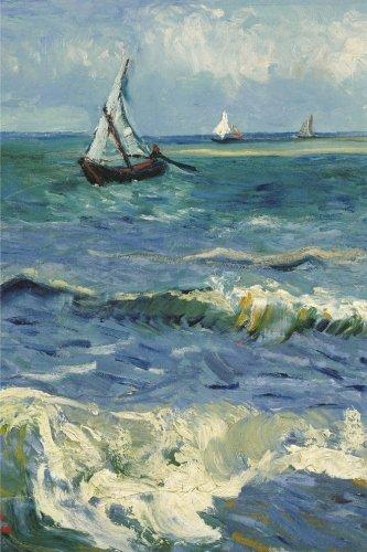 Seascape near Les Saintes Maries de la Mer: Van Gogh, Lined/ ruled journal ( notebook, composition book) 160 pages, 6x9 inch (15.24 x 22.86 cm) Laminated