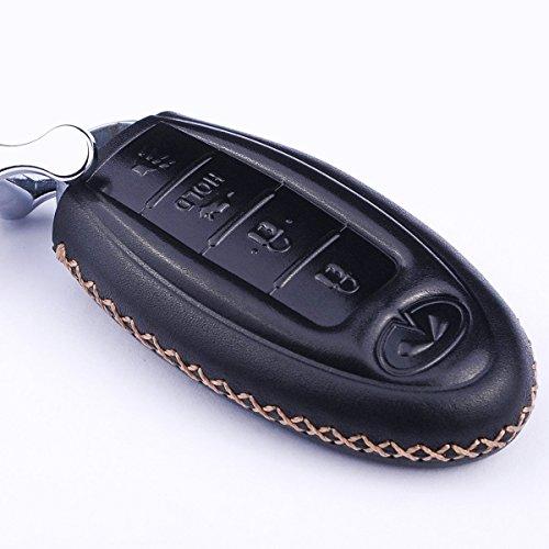 Cadtealir absortive Baby Calfskin Genuine Leather Key fob Cover case Holder for 2015-2018 gmc Yukon Acadia gmc Chevrolet Suburban Tahoe Silverado Colorado